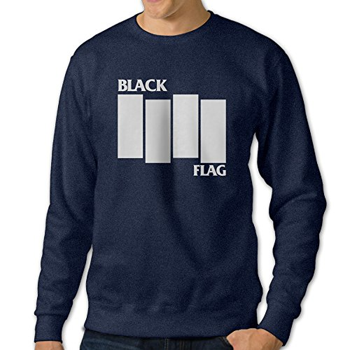 [U9 Men's Black Logo Flag Crewneck Sweatshirt] (Circle Jerk Costume)