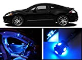 EliteTech 2006 - 2012 Mitsubishi Eclipse Premium LED Package (Ultra Blue) - Interior + License Plate(White) (8 pieces) 2006 2007 2008 2009 2010 2011 2012