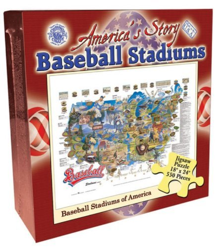 Baseball Stadiums 550 Piece Jigsaw Puzzle ()