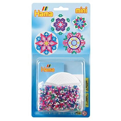 Hama - 5512 - Loisirs Créatifs - Blister 2000 Perles à Repasser + 1 Plaque - Taille Mini - Rosace