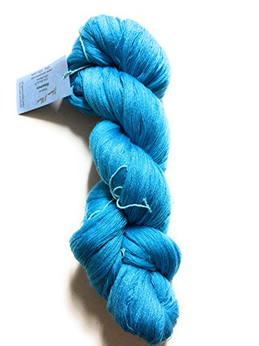 Yarn Place Heaven Yarn Skein Lace Wt. Tencil/Merino 125g 3280 yds (Turquoise 306) - Silk Wool Lace