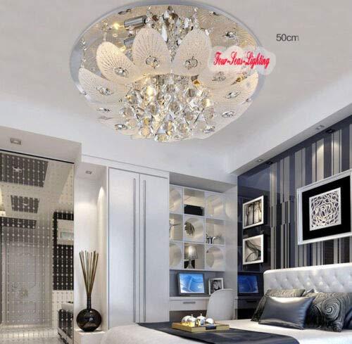 FidgetGear Modern K9 Crystal Chandelier Pendant Ceiling Lighting Living Room Pendant Lamp D50CM/19.7'' by FidgetGear (Image #1)