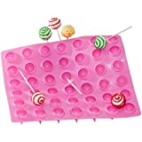 Truffly Made. Lollipop Mold for Chocolate, Truffle, Jelly and Candy, 42 cavities, One step candy pop-out