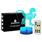 Cheap easuntec Boys Night Lights Dinosaur Night Light 7 Colors Change with Timer Remote Gift idea Gifts for Boys(Velociraptor1)