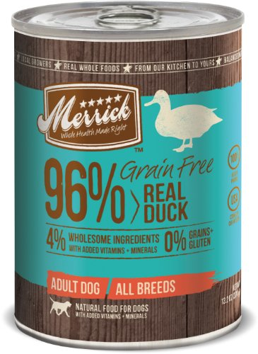 Merrick Grain Free 13.2-Ounce Real Duck Dog Food, 12 Count Case, My Pet Supplies