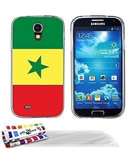 """Carcasa Flexible Ultra-Slim SAMSUNG I9500 / GALAXY S4 de exclusivo motivo [Bandera Senegal] [Gris] de MUZZANO  + 3 Pelliculas de Pantalla """"UltraClear"""" + ESTILETE y PAÑO MUZZANO REGALADOS - La Protección Antigolpes ULTIMA, ELEGANTE Y DURADERA para su SAMSUNG I9500 / GALAXY S4"""