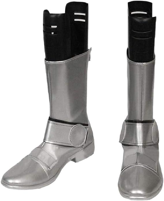 YYFZ Anime Cosplay Schuhe Overknee-Stiefel Lila Hohe Stiefel Herren Version Customization,Mens size-38