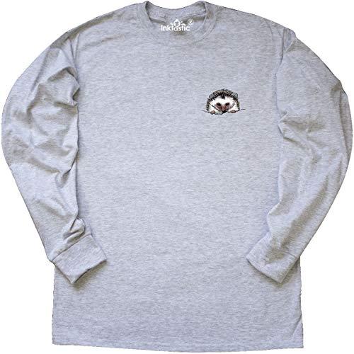 inktastic Pocket Hedgehog Long Sleeve T-Shirt Medium Ash Grey - KiniArt