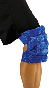 Knee & Elbow Wrap - Heating pad for Aches, Minor Injuries - Microwaveable - Hot Therapy by Nature Creation (Blue Flower)