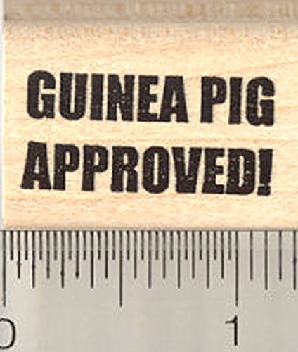 Guinea Pig Approved Rubber Stamp