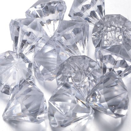 FunLavie, Acryl, Diamant-Glaskristall, zum Aufhängen, Dekoration für Hochzeiten oder Manzanita, Weihnachtsbaum Fall, Partys und andere Dekoration, 30x27mm, 20