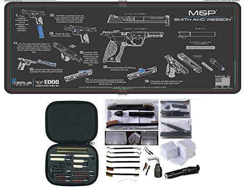 EDOG Smith & Wesson M&P CERUS Gear Instructional Step by Step PROMAT with Range Warrior Universal 27 PC Field and Bench Cleaning Essentials KIT