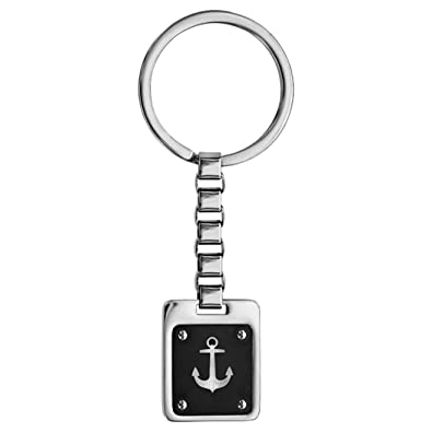 Thabora Hours Minutes Key Holder Steel And Pvd Black Anchor Navy Amazon Co Uk Jewellery