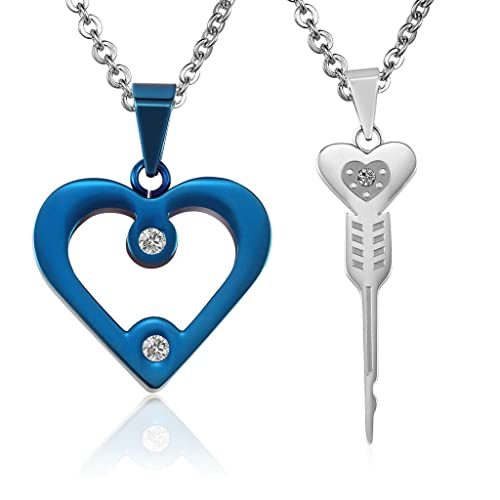 8a8d5b5e36dc ANAZOZ Stainless Steel Necklaces, Women's Men's Chain Pendant ...