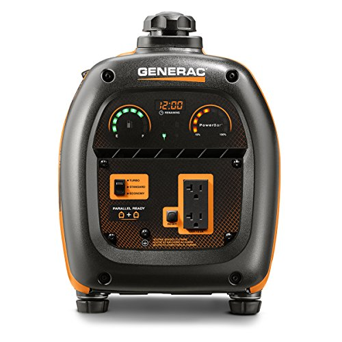 Generac 6866 iQ2000 Super Quiet 1600 Running Watts/2000 Starting Watts Gas Powered Inverter Generator - CARB Compliant