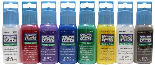 Plaid Gallery Glass Window Color Beginner Set (2-Ounce), GG8SET (8-Pack) -