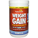 Naturade, Weight Gain, Instant Nutrition Drink Mix, Vanilla, 20.3 oz (576 g) - 3PC