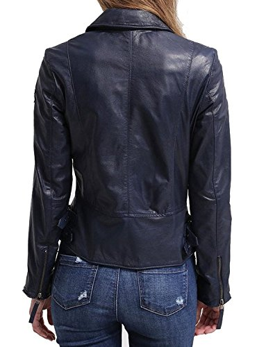 Junction Leather Giacca Giacca Leather Leather Junction Blue Blue Donna Donna Junction EwPTHq