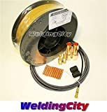 WeldingCity MIG Gun Kit for Lincoln 200/250 Tweco #2 and ER70S-6 11-lb Welding Wire .035'' M7W