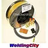 WeldingCity MIG Gun Kit for Lincoln 200/250 Tweco #2 and ER70S-6 11-lb Welding Wire .035″ M7W