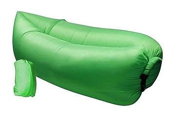 Práctico saco de dormir inflable Tumbona Aire exterior de alta calidad, Hangout portátil Ambiental tela