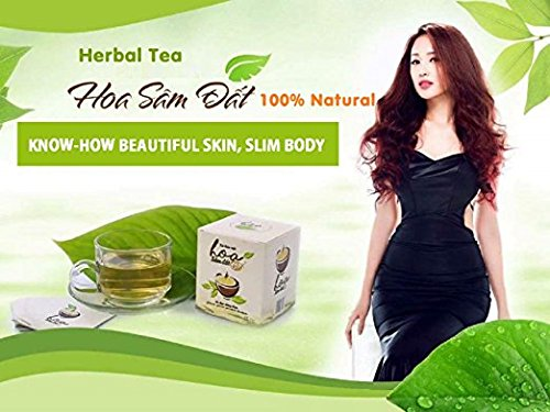 1 box (15 pack - Use 15 days) Secure Weight Loss Tea With 100% Herbs - VietNam- Hoa Sam Dat by Zini Hoang