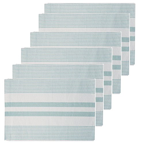 C&F Home Sea Glass & White Woven Placemat Set of ()