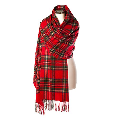 Royal Stewart Tartan (Edinburgh 100% Lambswool Wide Scottish Tartan Stole Stewart Royal)
