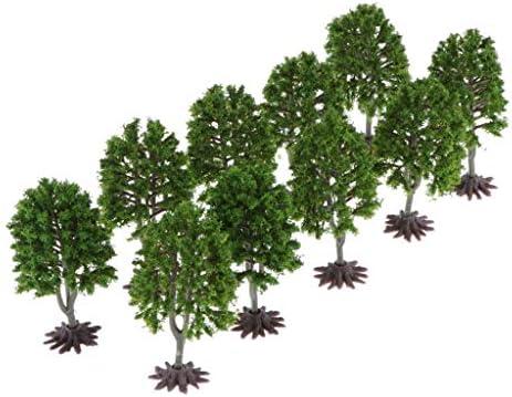 freneci 10本 木モデル モデルツリー 杉の木 1/100 箱庭/列車鉄道 電車模型 都市模型 情景コレクション