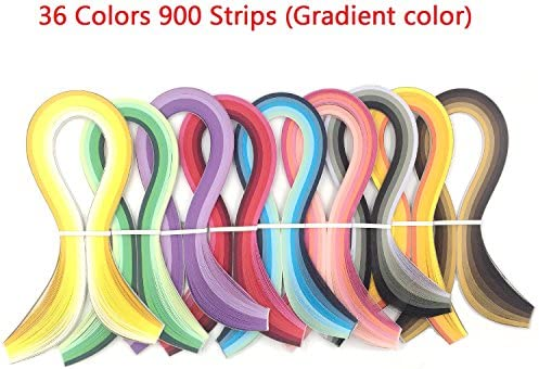 + 36 Colors 720 Strips ZHIHU 23 in 1 Paper Quilling Set /& 36 Colors 900 Strips and 10 Tools Quilling DIY /& Paper Width 3mm Mix and Bright Gradient Color