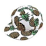 Adult Pineapple Print Snapback Hat Cap Summer Beach