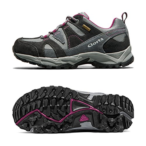 Waterproof Clorts HKL Outdoor Shoes Shoe Hiking Uneebtex Women's Suede Purple Trekkinig 828 CwnTwxqZHA