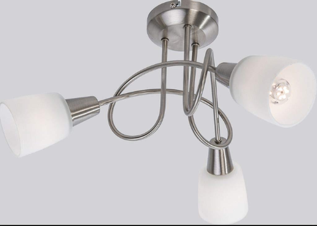 Nino LED Deckenlampe Lacuna 3x3W 45cm Lampe warmwei/ß nickel wei/ß 60840301