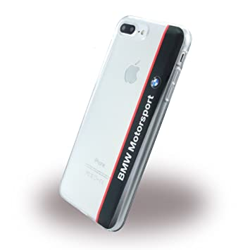 BMW Soft Carcasa Transparente Vertical Logo para Apple iPhone 7 Plus, Ampolla