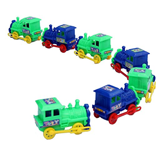Dazzling Toys Pull Back Trains - Pack of 12 ()