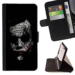 DEVIL CASE - FOR Samsung Galaxy S3 III I9300 - Joker Face - Style PU Leather Case Wallet Flip Stand Flap Closure Cover
