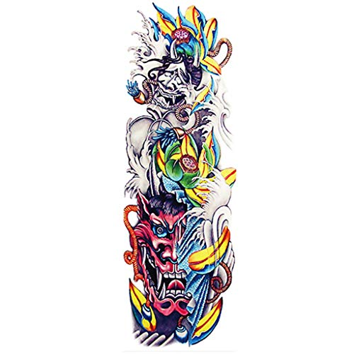 kitt 24 of Arm Temporary Stickers Body Art Cool Body Decoration, Designs Dragon, Fish, Skull, Tribal, Etc (T) ()