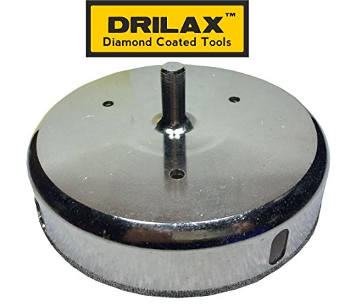 Drilax 5 inch Diamond Hole Saw Drill Bit Tiles, Glass, Fish Tanks, Marble, Granite Countertop, Ceramic, Porcelain, Coated Core Bits Holesaw DIY Kitchen, Bathroom, Shower, Faucet Installation by DRILAX