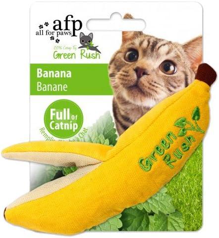 Amazon Com Afp Green Rush Banana With Catnip Cat Toy 12 G Pet