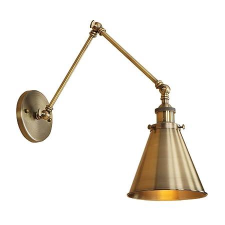 ♪ ® Wall Sconce 1 Head Lámpara de pared de hierro forjado ...