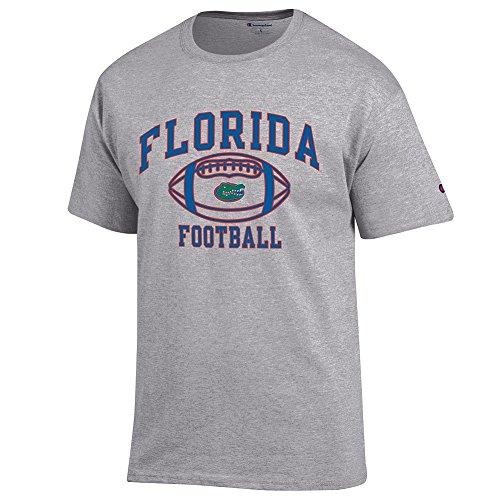 (Elite Fan Shop NCAA Men's Florida Gators Football T-shirt Dark Heather Florida Gators Dark Heather X)