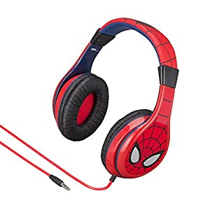 eKids Spiderman Kids Headphones, Adjustable Headband, Stereo Sound, 3.5Mm Jack, Wired Headphones for Kids, Tangle-Free…