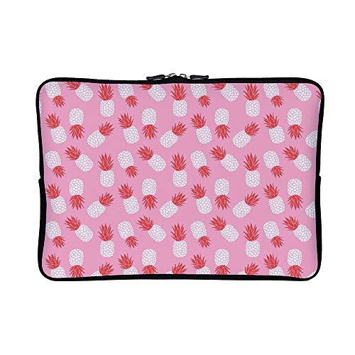 (DKISEE Abstract Riley Blake Havana Pineapples in Pink Neoprene Laptop Sleeve Case Waterproof Sleeve Case Cover Bag for)