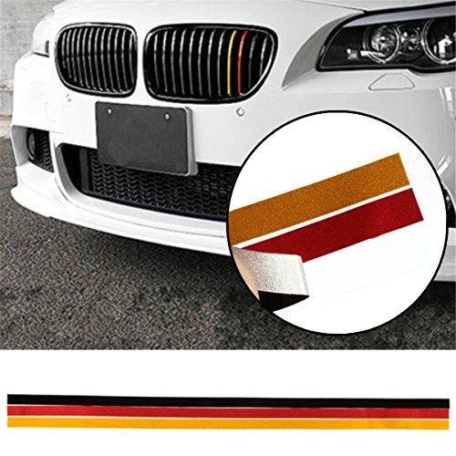 (Car Stickers & Decals - M-Sport Grille Grill Vinyl Strip Sticker Decal E46 German Flag - Bare Lattice Airstrip Flight Grillwork Disrobe Gummed Label Comic Down Opencut Opencast - 1PCs)