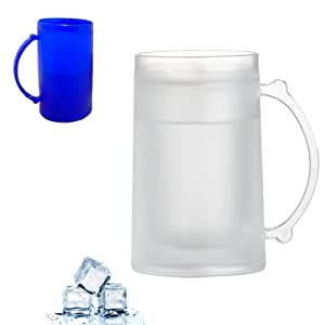 Frosty Freezer Mug 16 Ounce Beverage Cooling Device Beer Plastic Cup Cold Soda