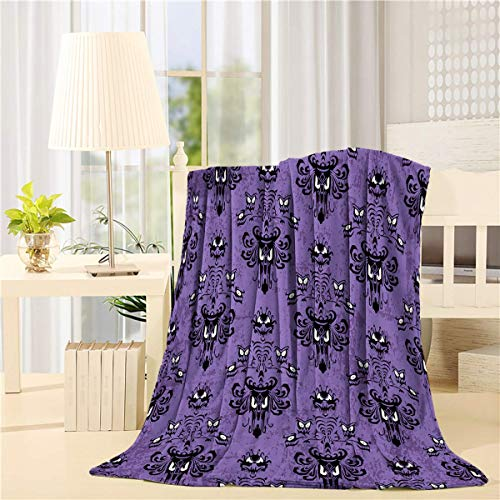 - Flannel Fleece Bed Blanket 40 x 50 inch Halloween Throw Blanket Lightweight Cozy Plush Blanket for Bedroom Living Rooms Sofa Couch - Haunted Mansion