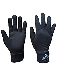 Compression Lightweight Sport Running Gloves Liner Gloves- Black - Men & Women