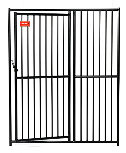 Lucky Dog Outdoor Pet Kennel Gate - Suited For Outdoor and Indoor Use - Modular - 5'W x 6'H
