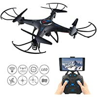 RC Quadcopter, KK5 2.4Ghz 4CH 6-Axis Gyro FPV RC Headless Quadcopter Drone UFO with HD Wifi Camera