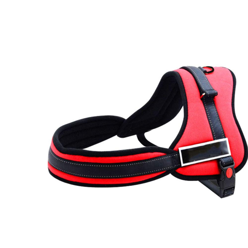 Red XSGJJ Pet leash, house pet chest strap, medium to large dog, nylon dog with chest, strap, dog walking leash, for outdoor hyena null